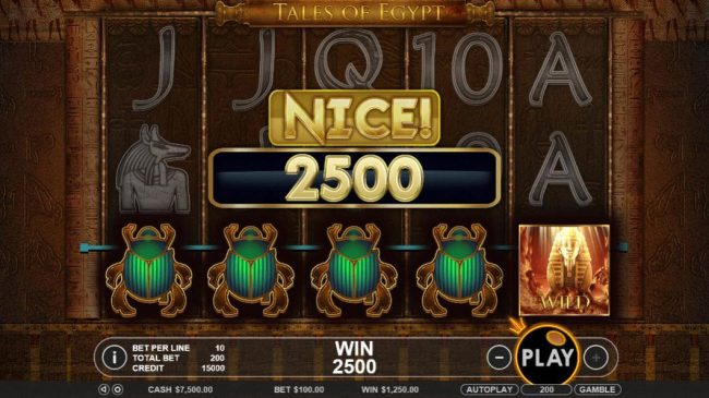 Spiral featuring the Video Slots Tales of Egypt with a maximum payout of $5,000