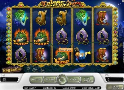 Wild Wild Bet featuring the Video Slots Tales of Krakow with a maximum payout of $15,000