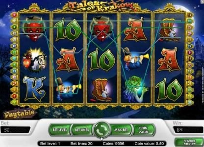 Winzino featuring the Video Slots Tales of Krakow with a maximum payout of $15,000