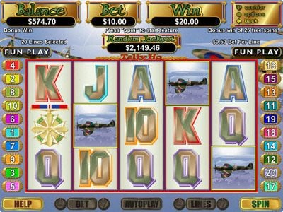 Play slots at iNET Bet: iNET Bet featuring the Video Slots Tally Ho with a maximum payout of $250,000