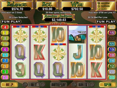 La Riviera featuring the Video Slots Tally Ho with a maximum payout of $250,000