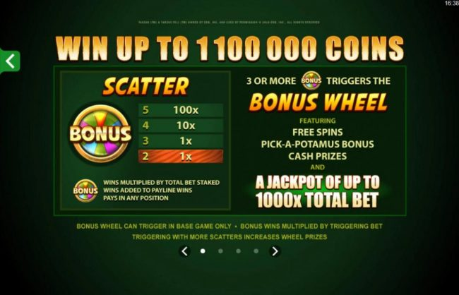 Play slots at Rich Casino: Rich Casino featuring the Video Slots Tarzan with a maximum payout of $110,000
