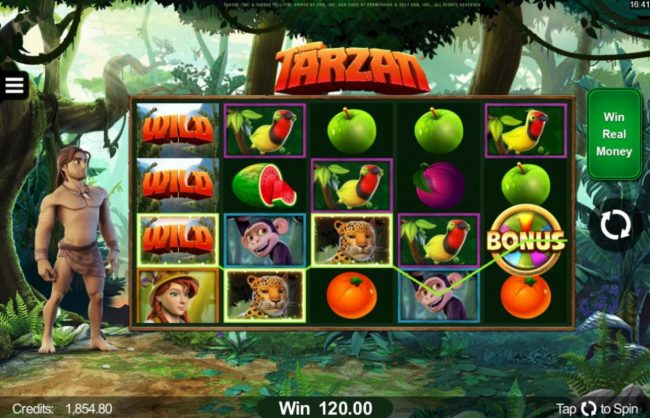 Betive featuring the Video Slots Tarzan with a maximum payout of $110,000