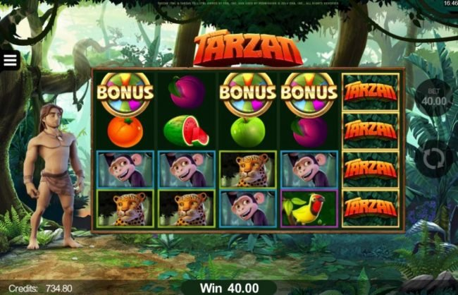Svedala featuring the Video Slots Tarzan with a maximum payout of $110,000