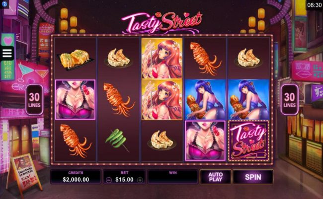 Vegas Seven featuring the Video Slots Tasty Street with a maximum payout of $120,000