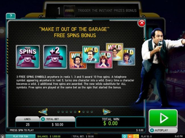 Spin Station featuring the Video Slots Taxi with a maximum payout of $25,000