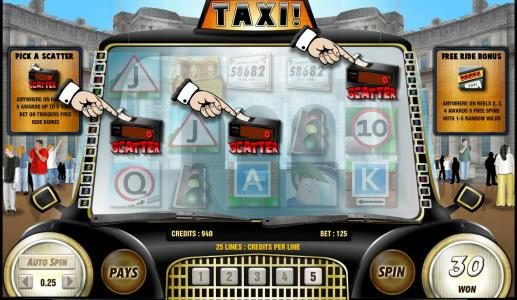 Prime Slots featuring the Video Slots Taxi with a maximum payout of 6250x
