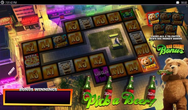Secret Slots featuring the Video Slots Ted with a maximum payout of $250,000