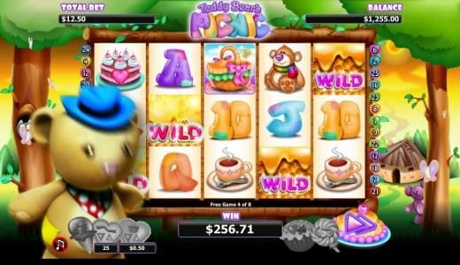 Northern Lights featuring the Video Slots Teddy Bears Picnic with a maximum payout of $1,000