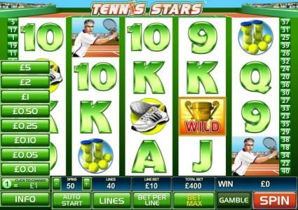 50 Stars featuring the Video Slots Teen Stars with a maximum payout of $25,000