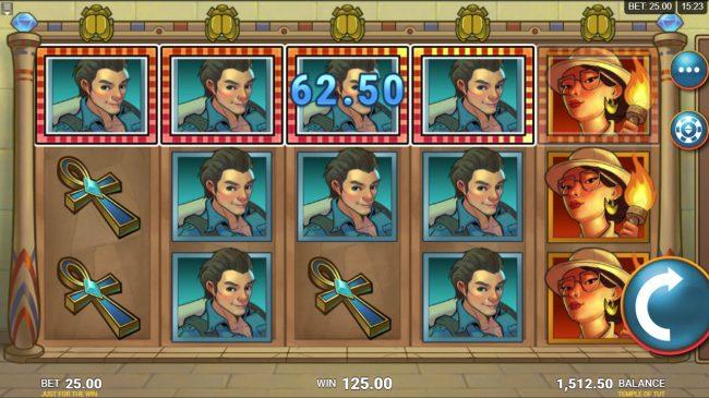 Temple of Tut :: Multiple winning combinations