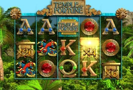 Norske Casino featuring the Video Slots Temple of Fortune with a maximum payout of $25,000
