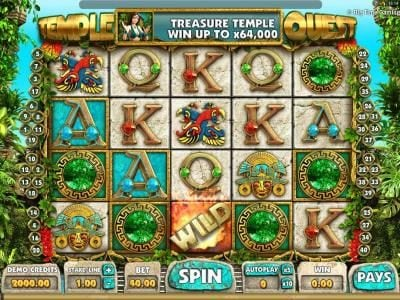 Play slots at Royal House: Royal House featuring the Video Slots Temple Quest with a maximum payout of $64,000