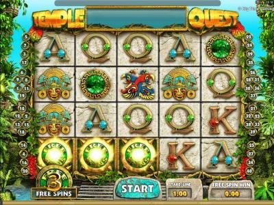 Come On featuring the Video Slots Temple Quest with a maximum payout of $64,000