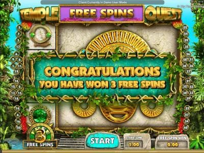 Vegas Baby featuring the Video Slots Temple Quest with a maximum payout of $64,000