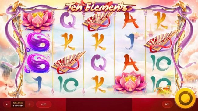 Shadowbet featuring the Video Slots Ten Elements with a maximum payout of $12,500