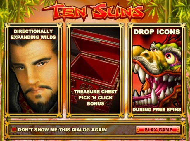 Cafe featuring the Video Slots Ten Suns with a maximum payout of $2,500
