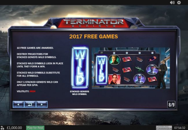 LesA Casino featuring the Video Slots Terminator Genisys with a maximum payout of $6,000,000