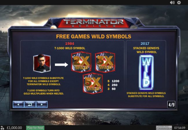 King Solomons featuring the Video Slots Terminator Genisys with a maximum payout of $6,000,000