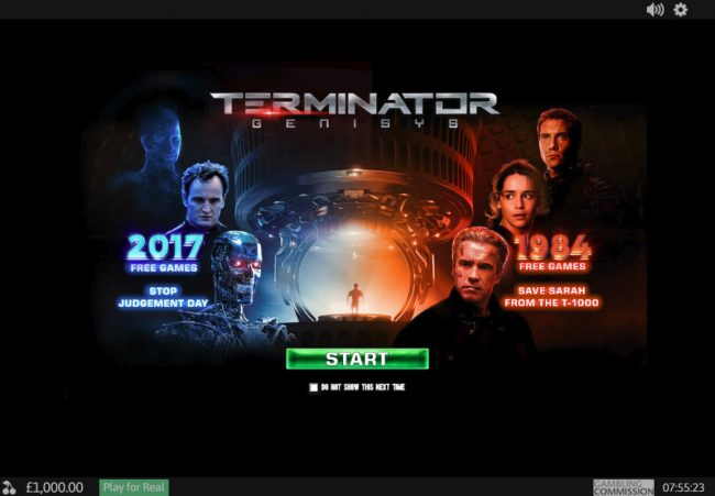 Play slots at Casino Las Vegas: Casino Las Vegas featuring the Video Slots Terminator Genisys with a maximum payout of $6,000,000