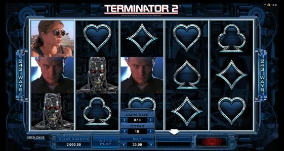 Vegas Country featuring the Video Slots Terminator 2 - Judgement Day with a maximum payout of $88,000