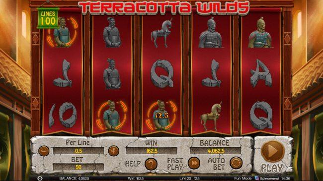 Terracotta Wilds :: Multiple winning paylines