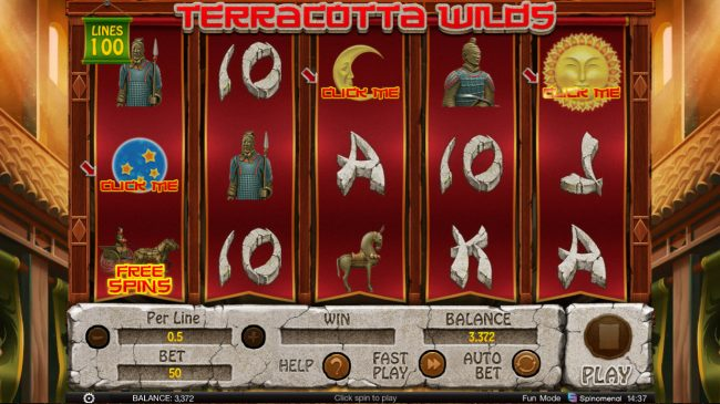 Terracotta Wilds :: Scatter win triggers the bonus feature