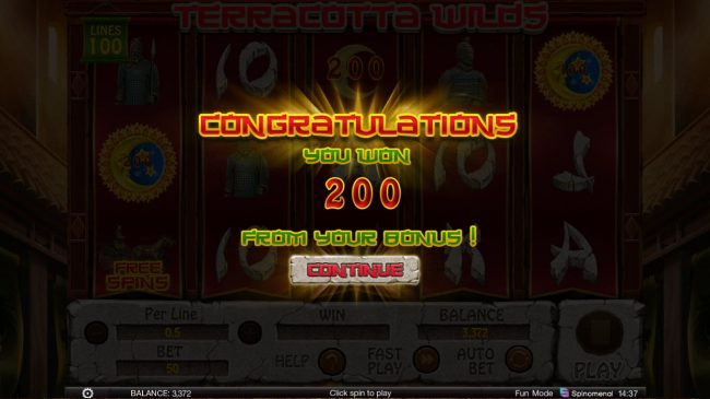 Terracotta Wilds :: Total Bonus Payout