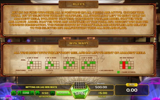Yoyo featuring the Video Slots Tesla Spark of Genius with a maximum payout of $500