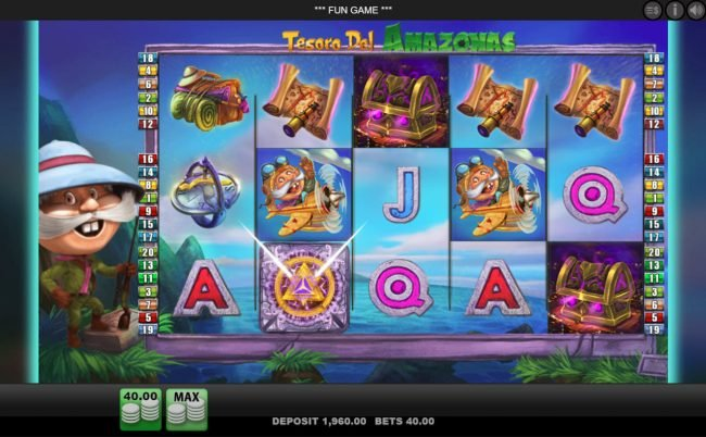 Lucky Me Slots featuring the Video Slots Tesoro Del Amazonas with a maximum payout of $2,000