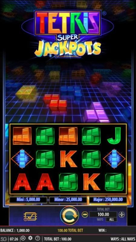 Tetris Super Jackpots :: Main Game Board