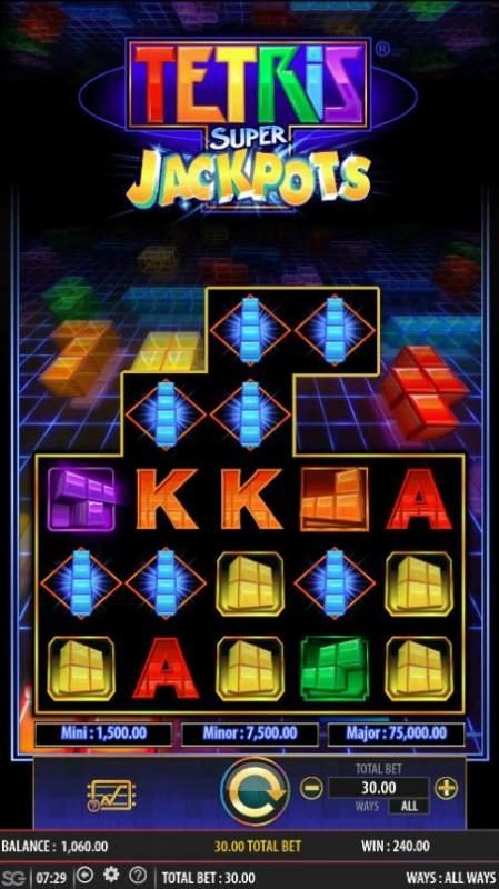 Tetris Super Jackpots :: Multiple winning combinations