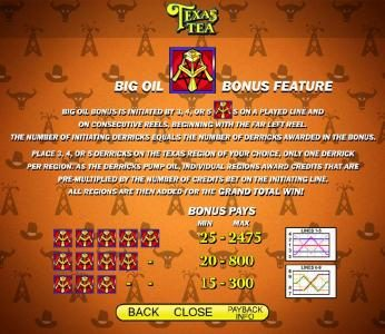Play slots at Moon Games: Moon Games featuring the Video Slots Texas Tea with a maximum payout of $250,000