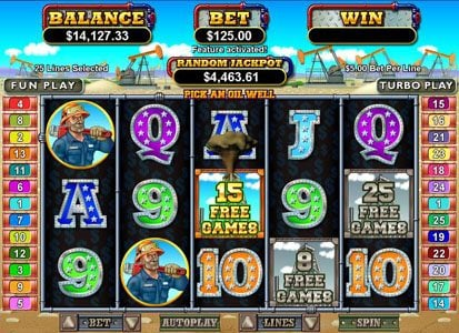 Raging Bull featuring the Video Slots Texan Tycoon with a maximum payout of $250,000