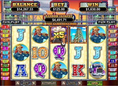 Planet 7 featuring the Video Slots Texan Tycoon with a maximum payout of $250,000