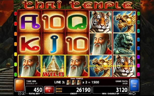 Zet Casino featuring the Video Slots Thai Temple with a maximum payout of $300,000