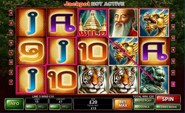 MANSION featuring the Video Slots Thai Temple with a maximum payout of $150,000