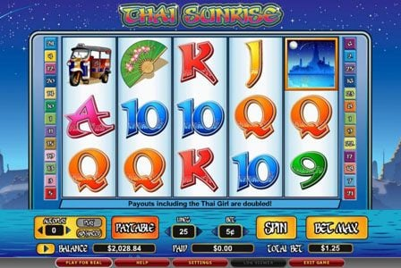Lightbet featuring the video-Slots Thai Sunrise with a maximum payout of 6,000x