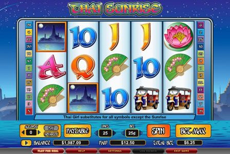 Play slots at Lucky Bets: Lucky Bets featuring the video-Slots Thai Sunrise with a maximum payout of 6,000x