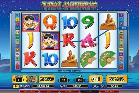888 Casino featuring the video-Slots Thai Sunrise with a maximum payout of 6,000x
