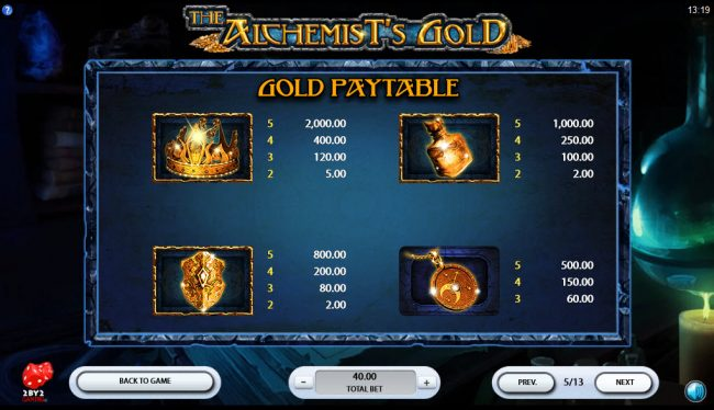 Play slots at YouWin: YouWin featuring the Video Slots The Alchemist's Gold with a maximum payout of $80,000