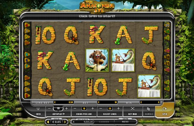 Play slots at Mongoose Casino: Mongoose Casino featuring the Video Slots The Anaconda Eye with a maximum payout of $35,000