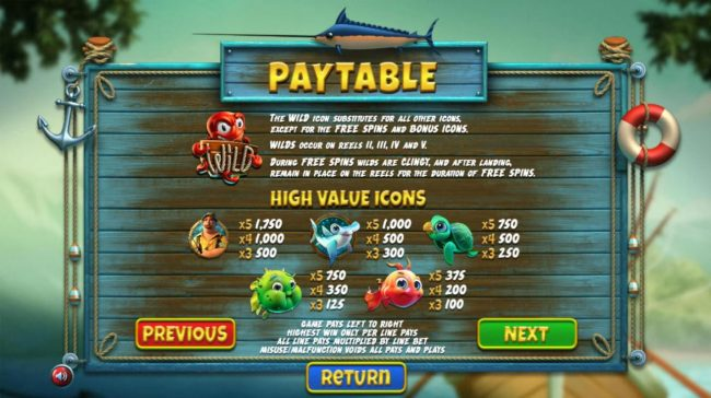 BetOnline featuring the Video Slots The Angler with a maximum payout of $130,000