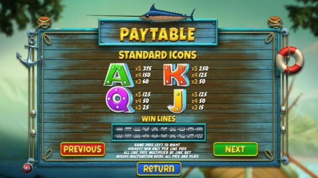 Big Spin featuring the Video Slots The Angler with a maximum payout of $130,000