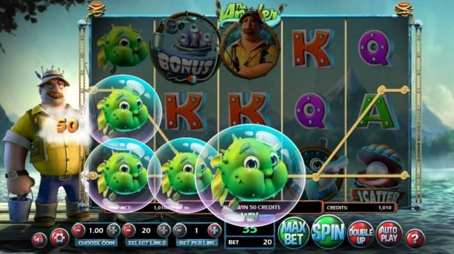 Black Diamond featuring the Video Slots The Angler with a maximum payout of $130,000