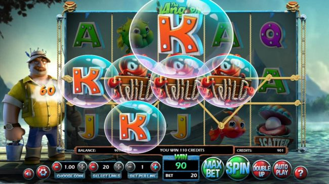 Diamond 7 featuring the Video Slots The Angler with a maximum payout of $130,000