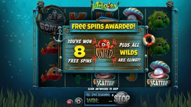 Play slots at Sports and Casino: Sports and Casino featuring the Video Slots The Angler with a maximum payout of $130,000