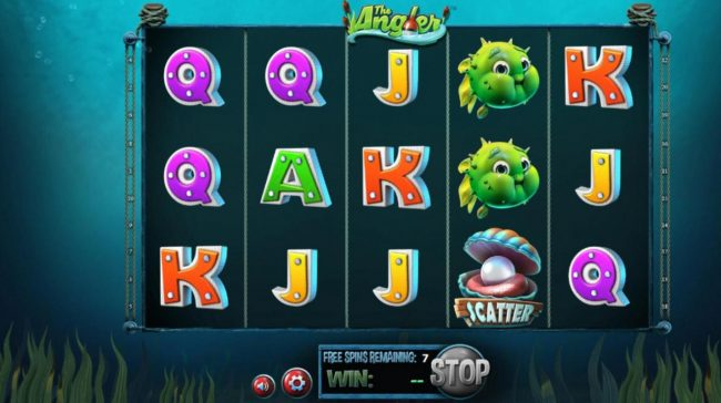 Vegas Days featuring the Video Slots The Angler with a maximum payout of $130,000