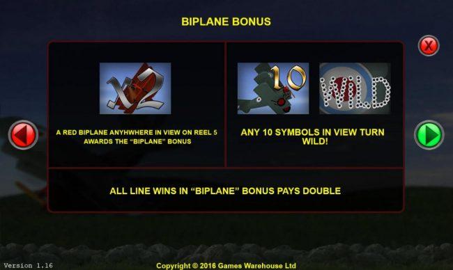 The Baron :: Biplane Bonus Rules