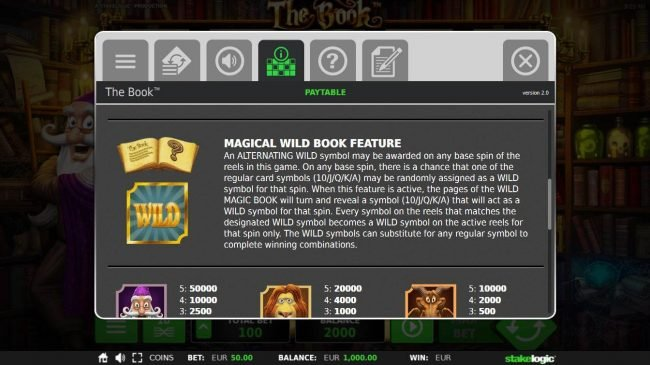 The Book :: Magical Wild Book Feature Rules